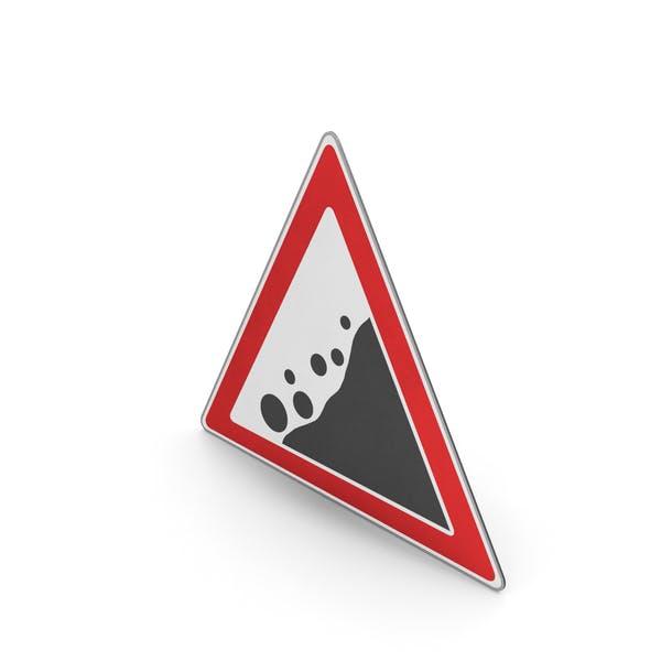 Verkehrszeichen Gefahr von fallenden Felsen