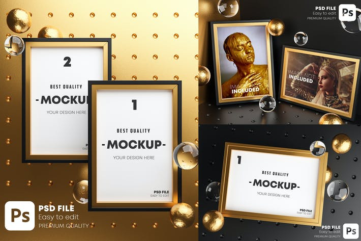 Thumbnail for Gold Frame Mockup Bundle