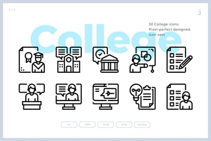 30 College Icons