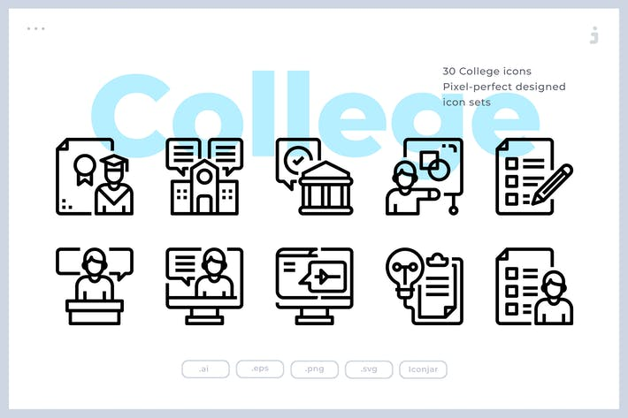 Thumbnail for 30 College Icons