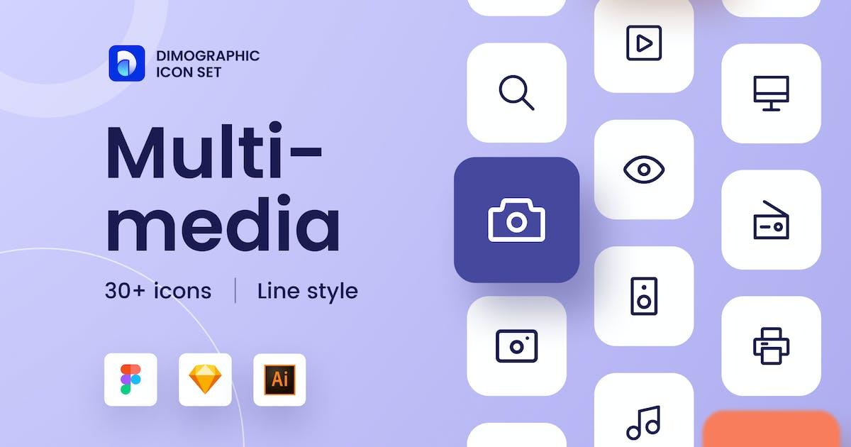 Download Multimedia Icon Set UZ by DimoGraphic