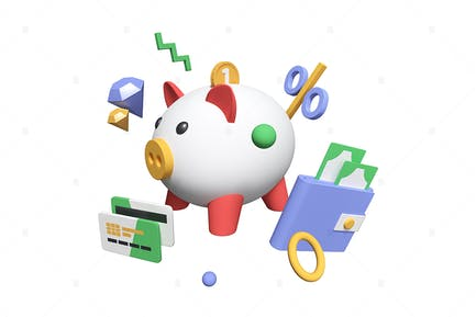 Money Saving - 3D Illustration