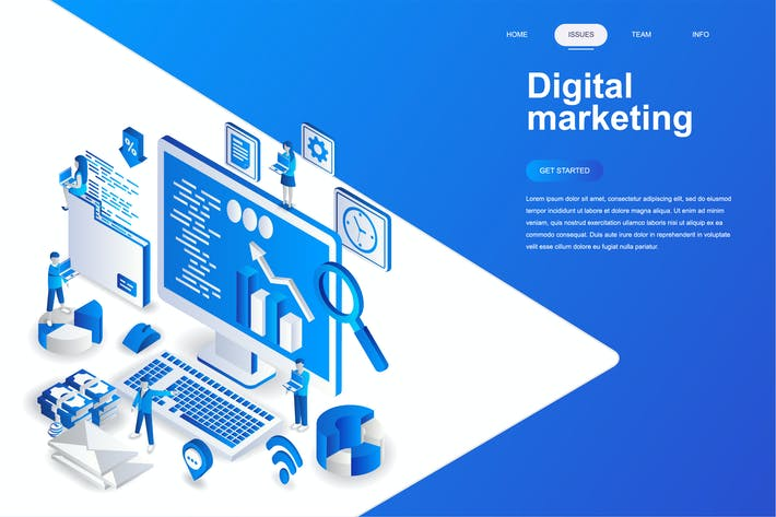 Thumbnail for Digital Marketing Isometric Concept