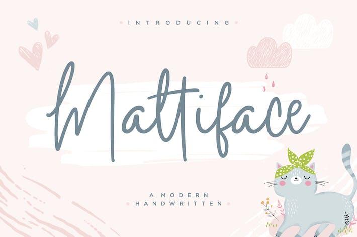 Thumbnail for Mattiface Fuente manuscrita YH