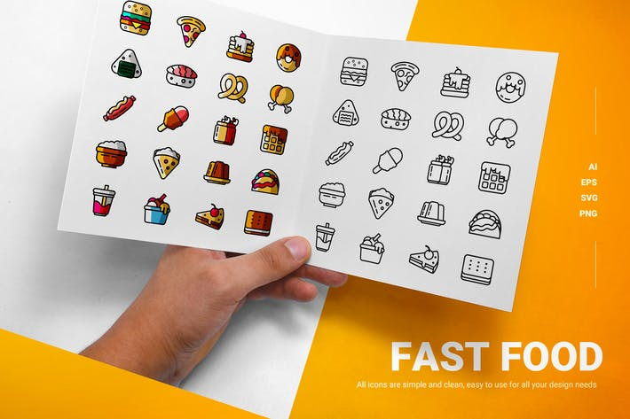 Thumbnail for Fast Food - Icons