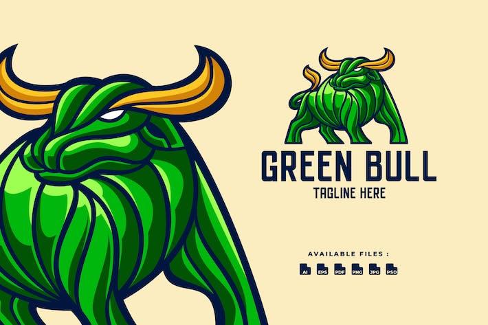 Green Bull Character Logo