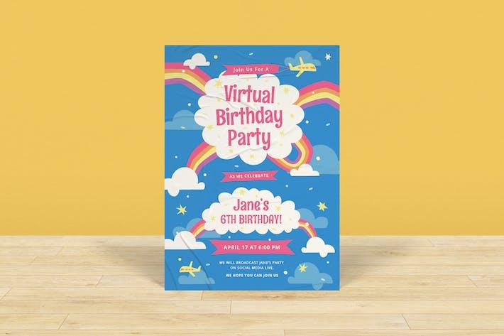 Virtual Birthday Flyer Pack