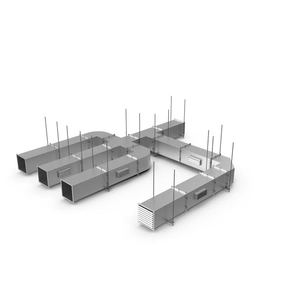 Ventilation Shaft Square System Set