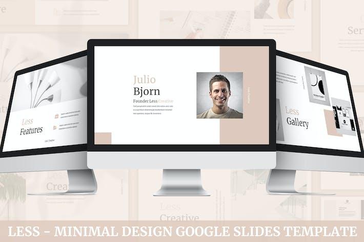 Thumbnail for Less - Minimal Design Google Slides Template