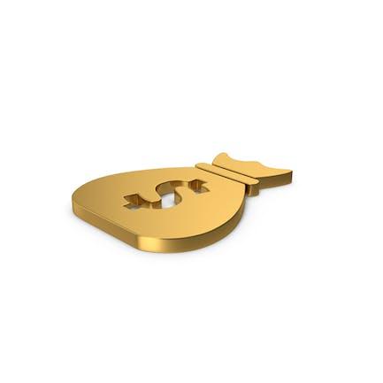 Gold Symbol Money Bag