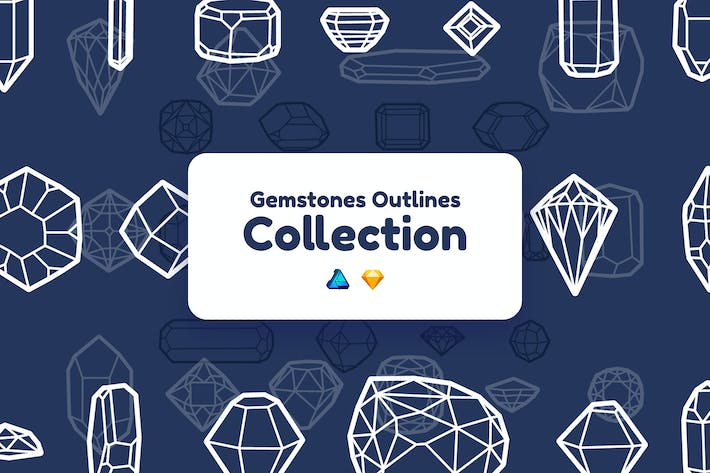 Thumbnail for Gemstones Outlines Collection