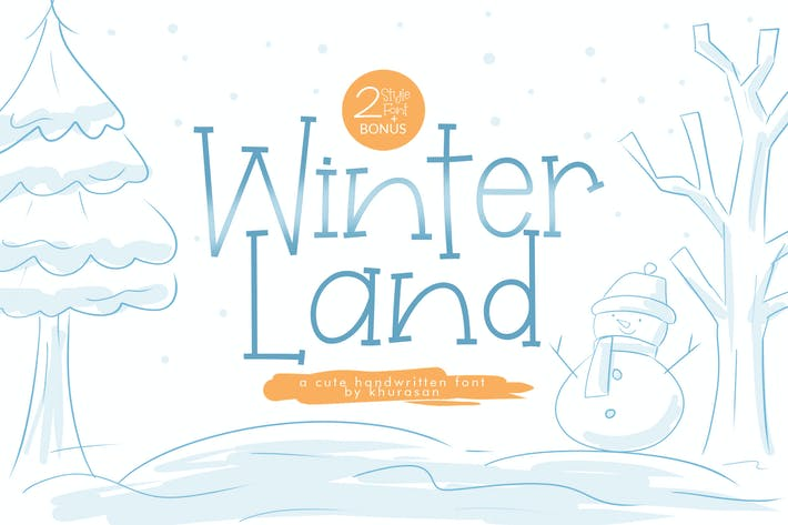 Thumbnail for WinterLand Font