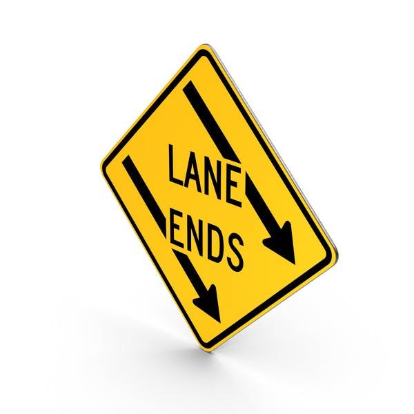 Left Lane Ends Maryland Sign