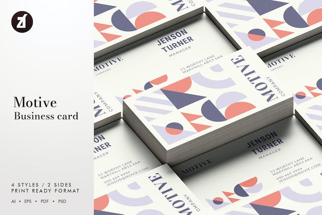 Motive - Business card template - product preview 2
