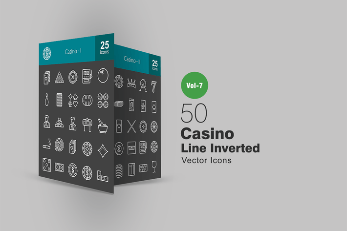 Thumbnail for 50 Casino Line Inverted Icons