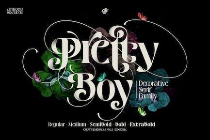 Pretty Boy   Decorative serif family