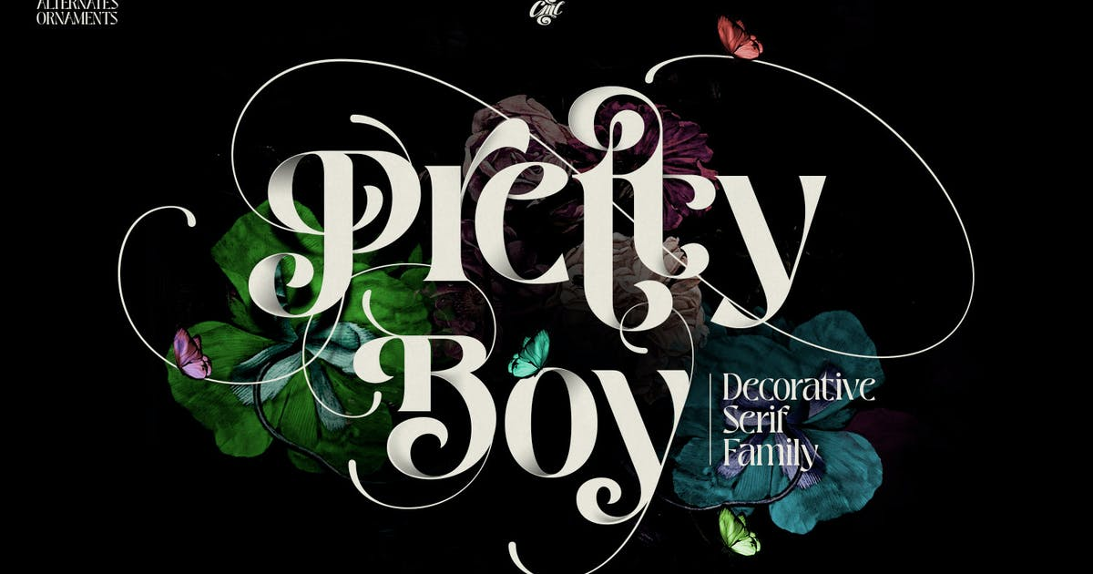 Download Pretty Boy | Decorative serif family by creativemedialab