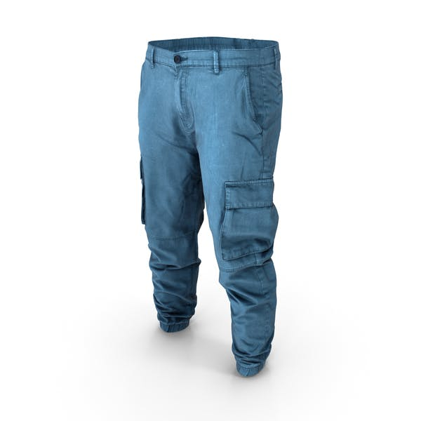 Thumbnail for Mens Denim Cargo Pants