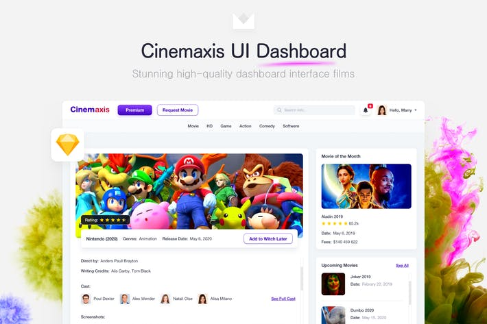 Thumbnail for Cinemaxis UI Dashboard
