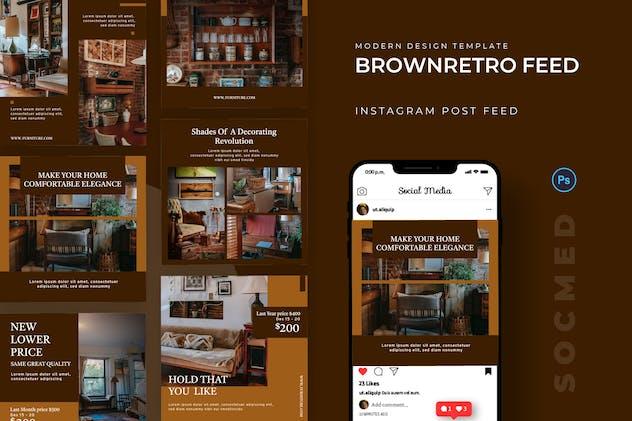 Brown Retro Furniture Socmed Post
