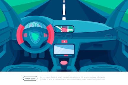 Car Interior - Interior Background Illustration