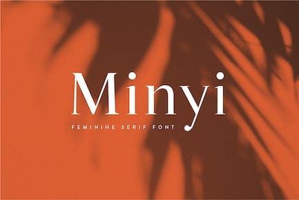 Minyi - A Feminine Serif Typeface