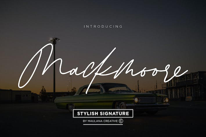 Thumbnail for Mackmoore Signature Font