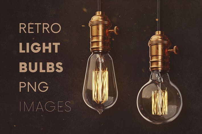Thumbnail for Retro Light Bulbs & Lighting Graphics