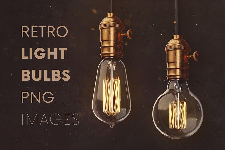 Retro Light Bulbs & Lighting Graphics