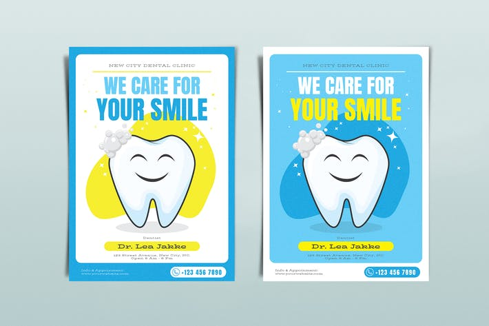 Dental Care Flyers Template