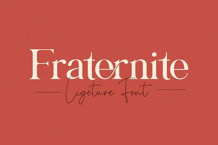 Fraternite Con serifa Fuente