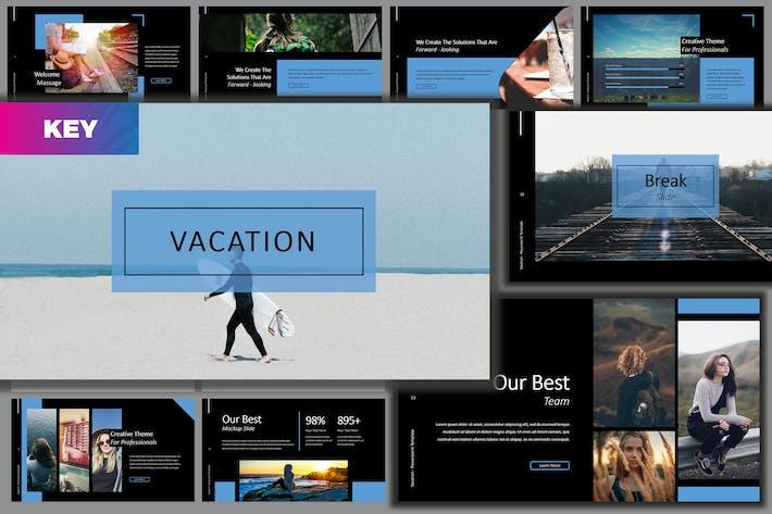 Thumbnail for Vacation Lookbook Dark Keynote Template