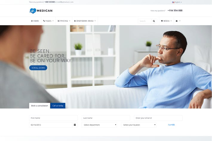 Cover Image For Medican - Health, Medical,Booking, Hospital