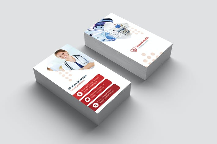 Thumbnail for Business Card – Hospital Vertical