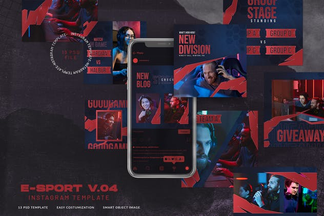 eSport & Gaming Instagram Template V.04