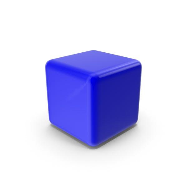 Синий пустой блок