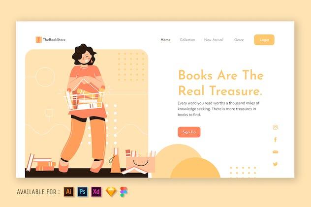 Books Are The Real Treasure - Web Illustration