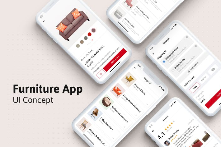 Thumbnail for Furniture mobile UI concept