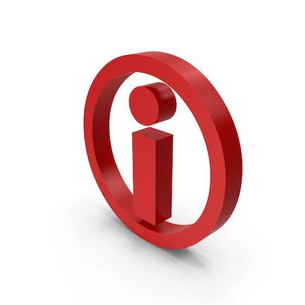 Красный символ значка информации