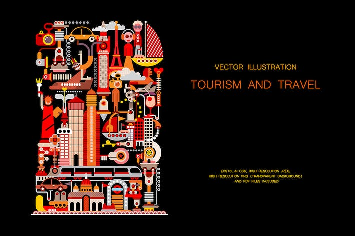 Thumbnail for Tourism and Travel vector illustration