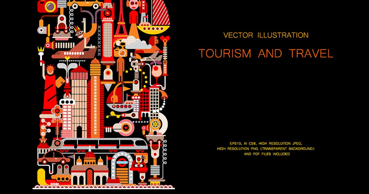 Download Tourism and Travel vector illustration by danjazzia