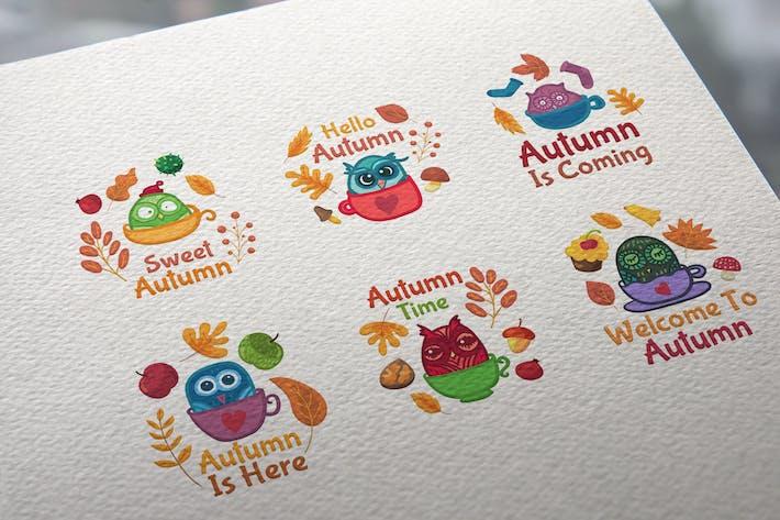 Thumbnail for Herbst-Eulen-Abzeichen Set