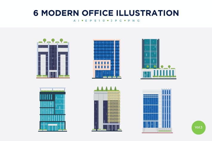 Thumbnail for 6 Modern Office Vector Illustration Set 3