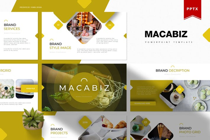 Thumbnail for Macabiz | Powerpoint Template