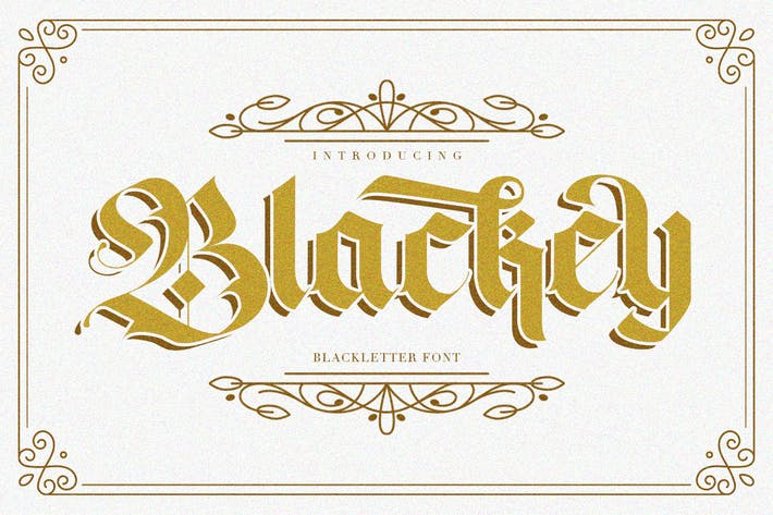 Thumbnail for Blackey - Fuente decorativa, diseño gótico, color negro