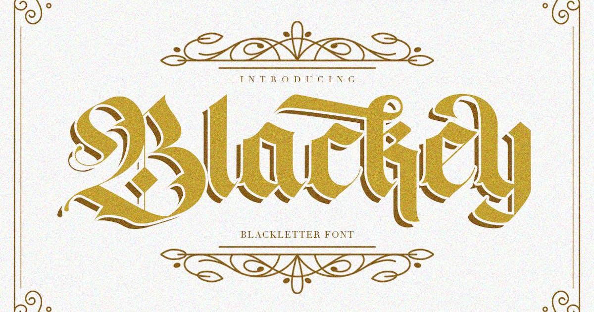 Download Blackey Bold Decorative Gothic Blackletter Font by maulanacreative