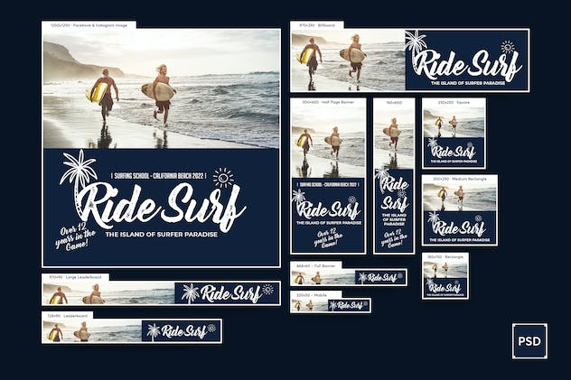 Surf Training Banners Ad