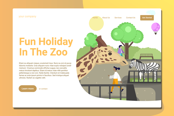 Thumbnail for Zoo - Landing Page