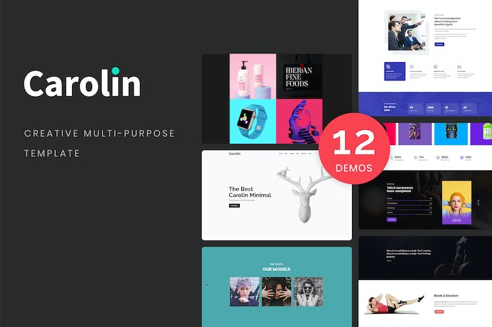 Thumbnail for Carolin - Creative Multi-Purpose PSD Template