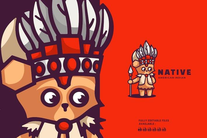 Thumbnail for Raccoon Cartoon Character Logo